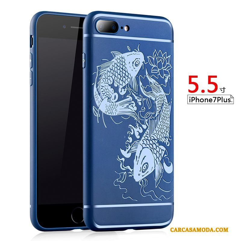iPhone 7 Plus Teléfono Móvil Anti-caída Silicona Funda Carcasa Suave Protección