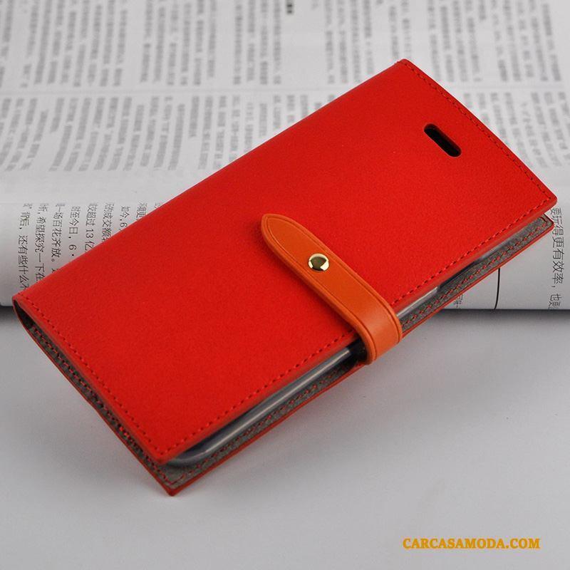 iPhone 7 Suave Vino Tinto Todo Incluido Tendencia Funda De Cuero Silicona Folio