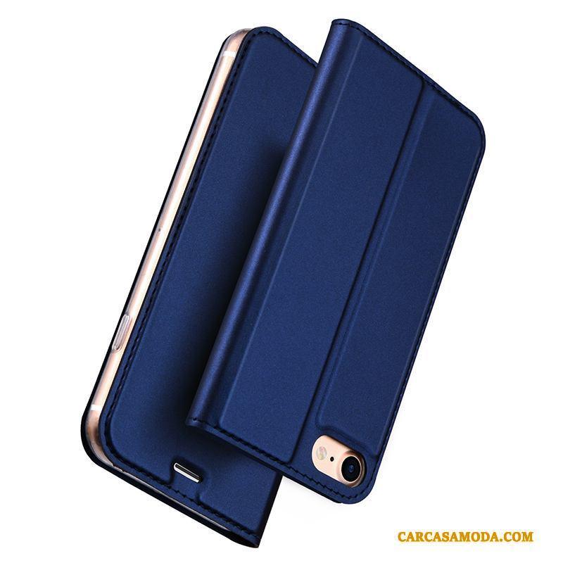 iPhone 8 Funda Teléfono Móvil Oro Tarjeta Folio Anti-caída Protección Todo Incluido