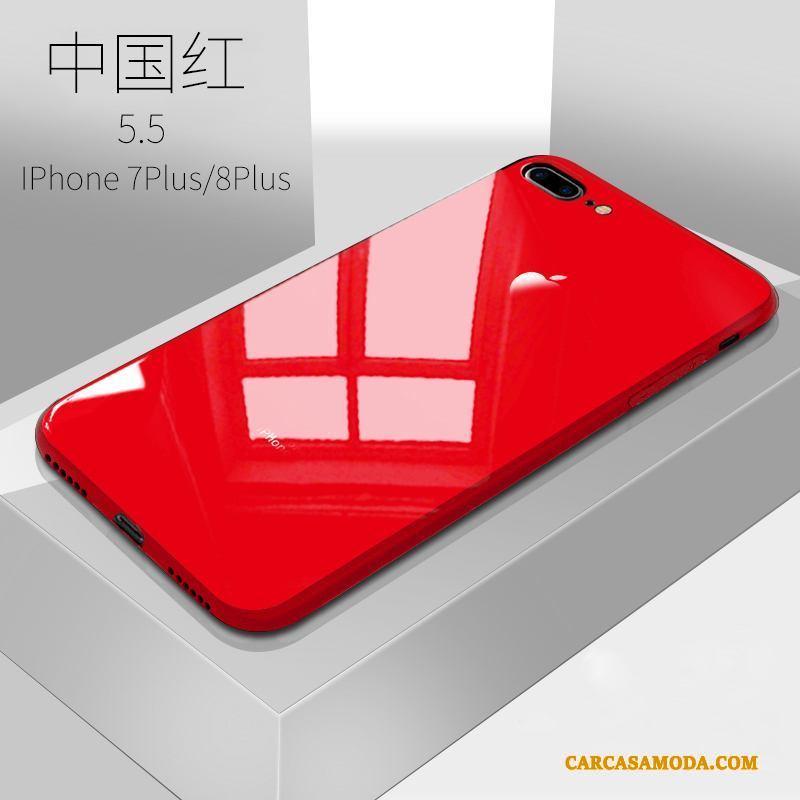 iPhone 8 Plus Funda Marca Tendencia Lentejuelas Carcasa Elegante Negro Polvo Protección
