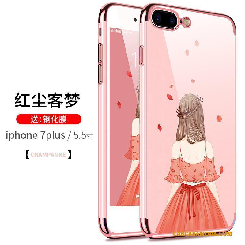 iPhone 8 Plus Slim Nuevo Anti-caída Suave Transparente Silicona Funda Silicona