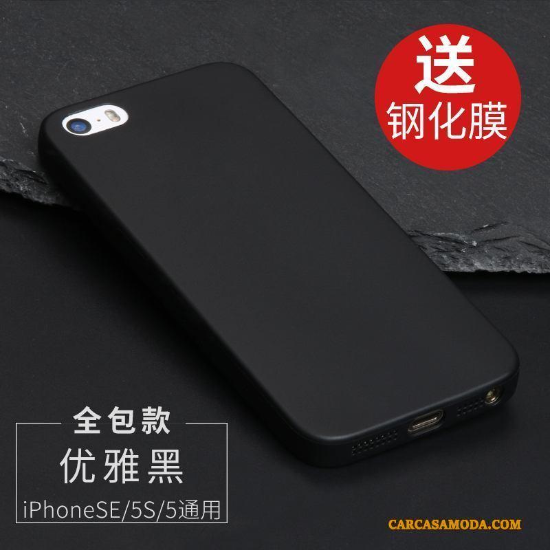 iPhone Se Funda Protección Suave Azul Silicona Transparente Todo Incluido Nobuck