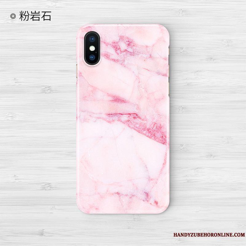 iPhone Xs Max Creativo Anti-caída Funda Silicona Color Tendencia Personalizada Rosa
