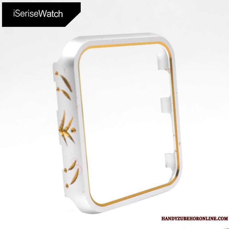 Apple Watch Series 2 Carcasa Funda Metal Oro Anti-caída Protección Silver