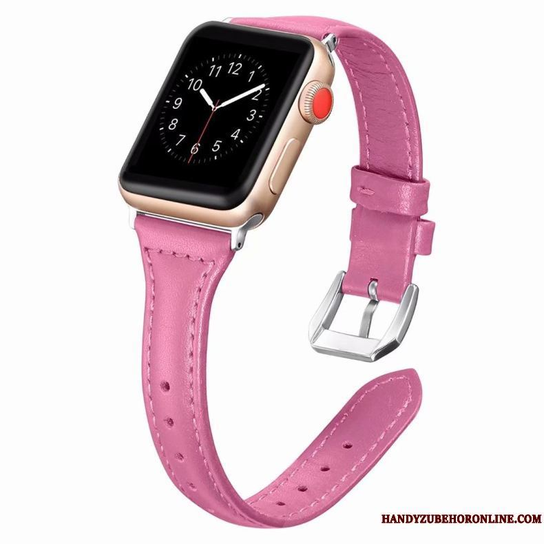 Apple Watch Series 2 Funda Fine Cuero Genuino Rosa