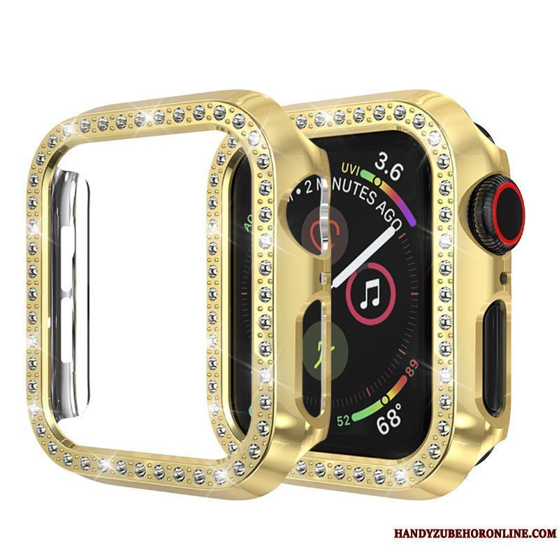 Apple Watch Series 2 Protección Anti-caída Rhinestones Carcasa Funda Oro