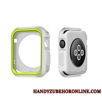 Apple Watch Series 2 Silicona Verde Protección Blanco Carcasa Funda Bicolor