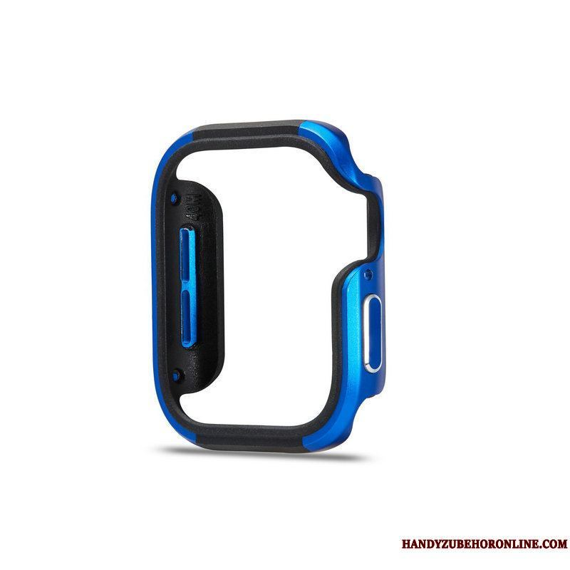 Apple Watch Series 5 Anti-caída Metal Funda Borde Protección Azul
