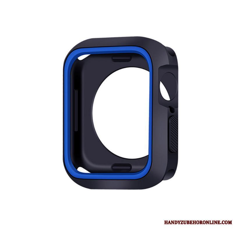 Apple Watch Series 5 Funda Suave Silicona Protección Azul