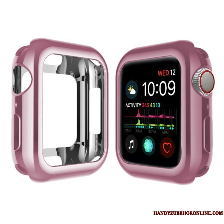 Apple Watch Series 5 Protección Funda Suave Chapado Carcasa Pu Silicona