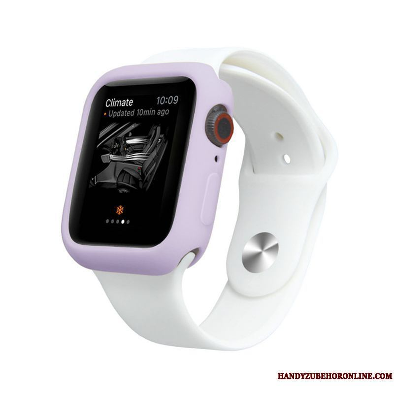 Apple Watch Series 5 Todo Incluido Suave Púrpura Silicona Color Caramelo Carcasa Funda