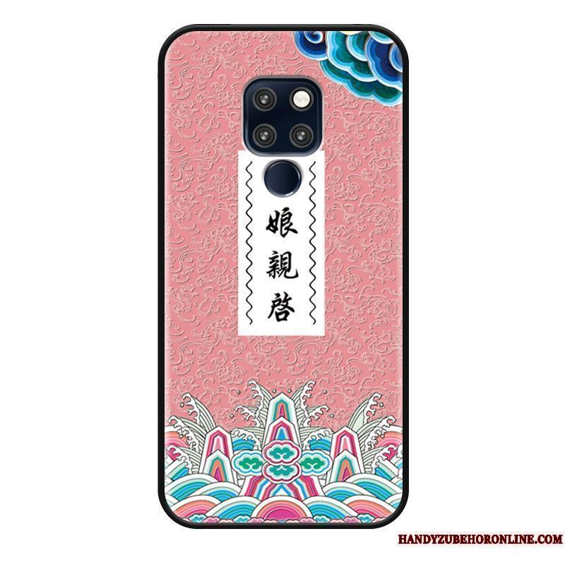 Huawei Mate 20 Funda Personalizada Divertido Carcasa Relieve Tendencia Anti-caída Estilo Chino