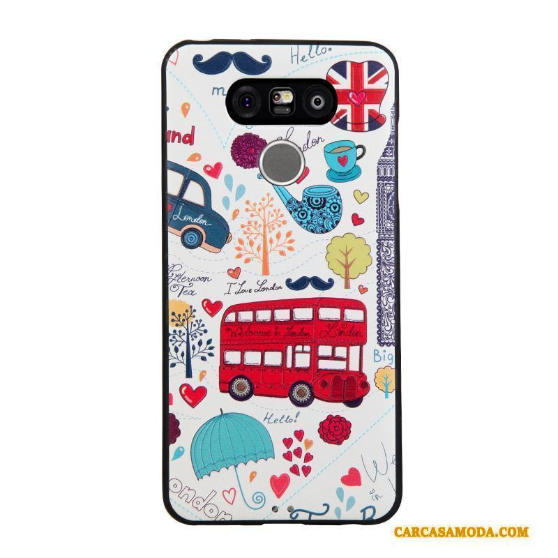 Lg G6 Funda Tendencia Business Color Relieve Protección Dibujos Animados Suave