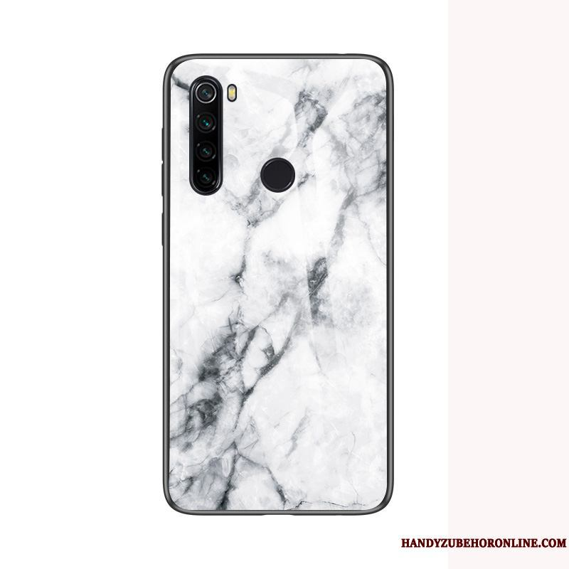 Redmi Note 8t Funda Vidrio Blanco Grande Temperamento Net Red Tendencia Rojo