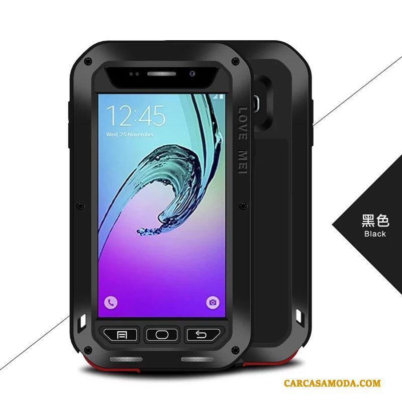 026003ce267 Samsung Galaxy A3 2016 Protección Negro Funda Silicona Anti-caída Carcasa  Estrellas Metal Online