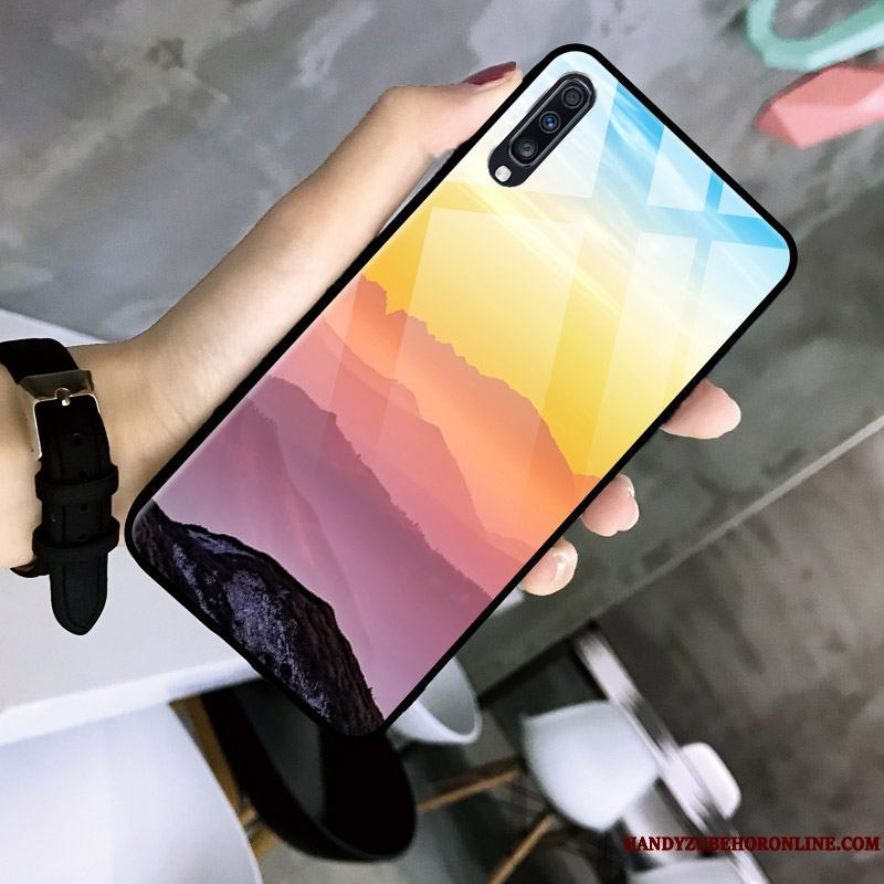 Samsung Galaxy A30s Funda Tendencia Simple Estrellas Color Gradiente Vidrio Personalidad