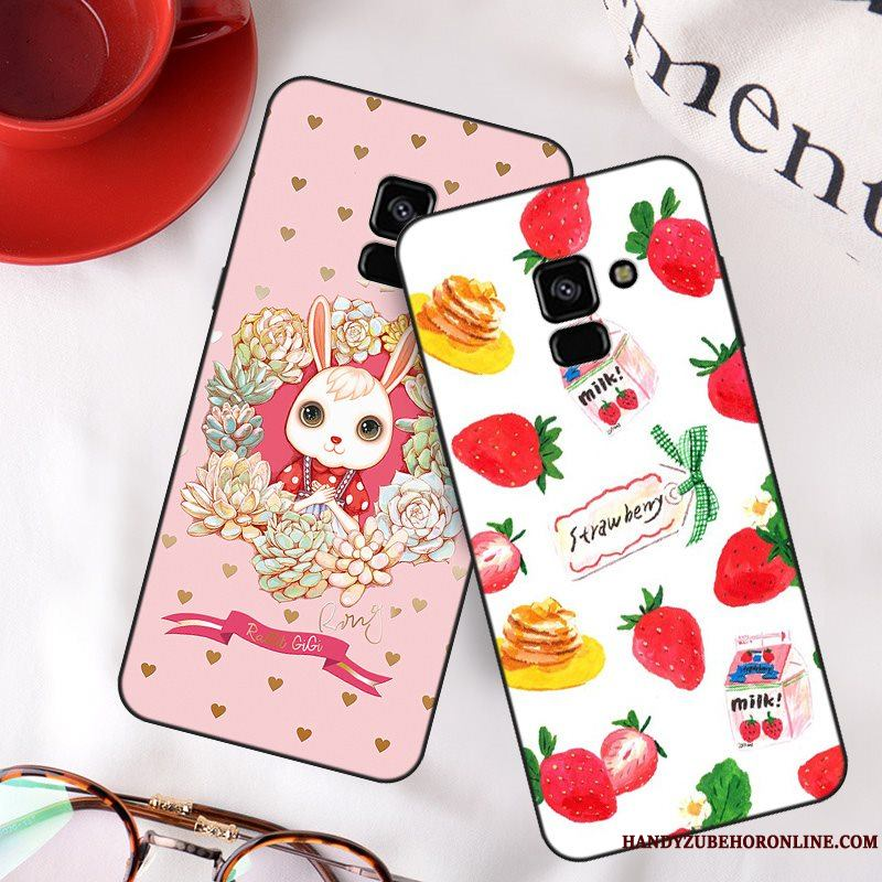 Samsung Galaxy A8 2018 Anti-caída Color Tendencia Simple Carcasa Funda Silicona Estrellas