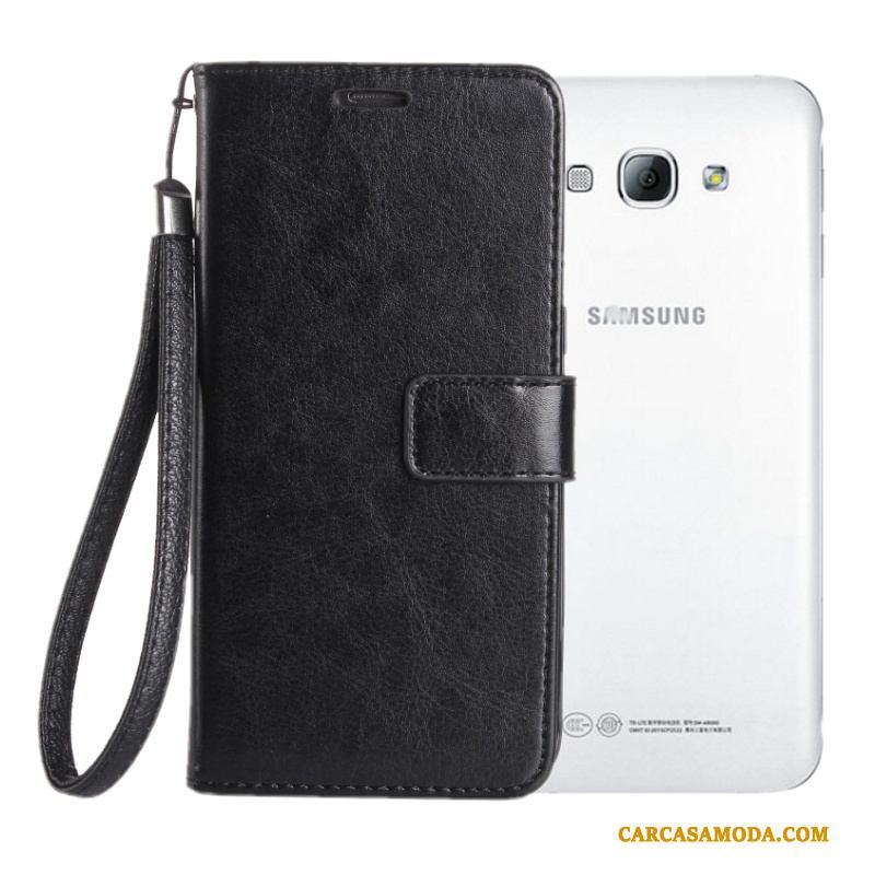 Samsung Galaxy A8 Carcasa Silicona Anti-caída Negro Suave Funda De Cuero Clamshell