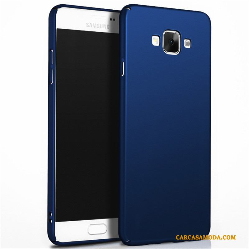 Samsung Galaxy J7 2016 Carcasa Azul Duro Funda Teléfono Móvil Protección Silicona
