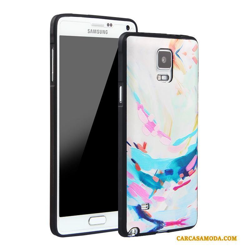 37a137456a0 Samsung Galaxy Note 4 Funda Carcasa Todo Incluido Protección Azul Relieve  Dibujos Animados Silicona