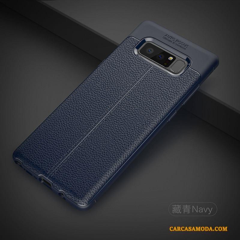 Samsung Galaxy Note 8 Funda Silicona Protección Tendencia Suave Creativo Azul Carcasa