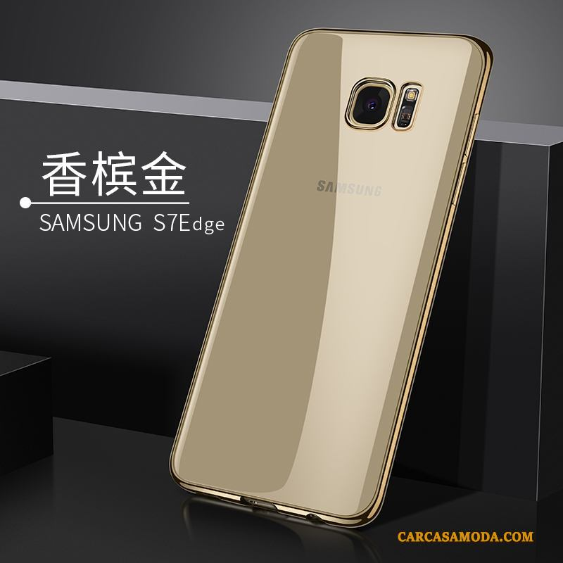 51a6a1250b3 Samsung Galaxy S7 Edge Funda Estrellas Oro Transparente Suave Silicona  Carcasa Comprar