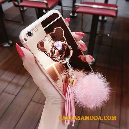 Samsung Galaxy S7 Edge Funda Hebilla Bola De Piel Borla Estrellas Silicona Anillo Rosa