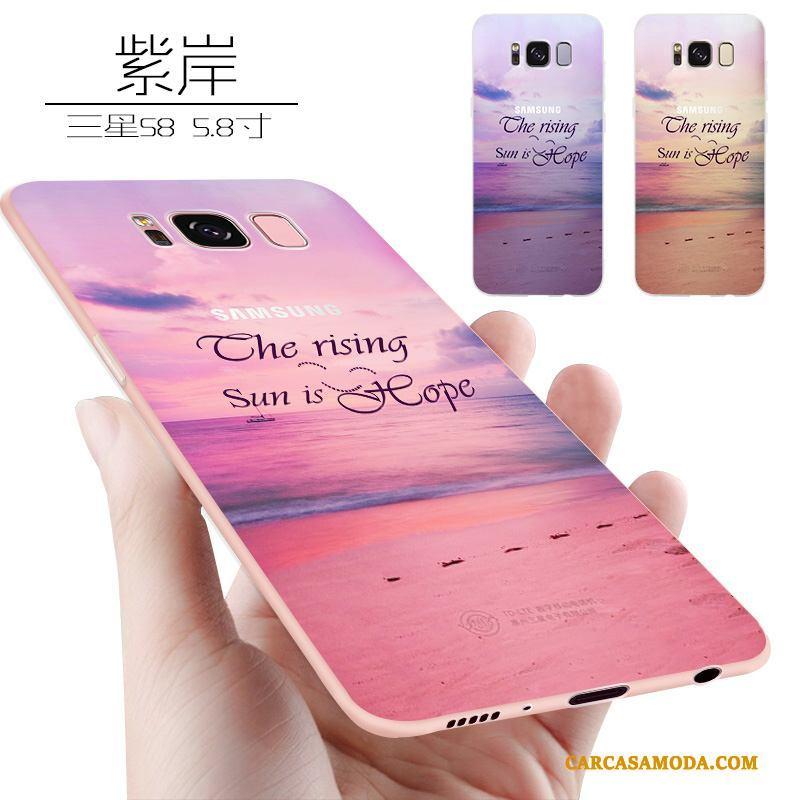 d80ea26fda4 Samsung Galaxy S8 Todo Incluido Tendencia Suave Delgado Funda Silicona Rosa  Protección Online