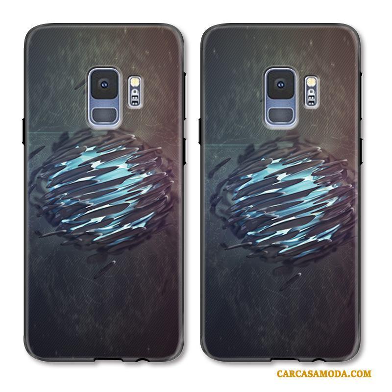 Samsung Galaxy S9 Funda Pintados Gris Nuevo Estrellas Protección Relieve Creativo