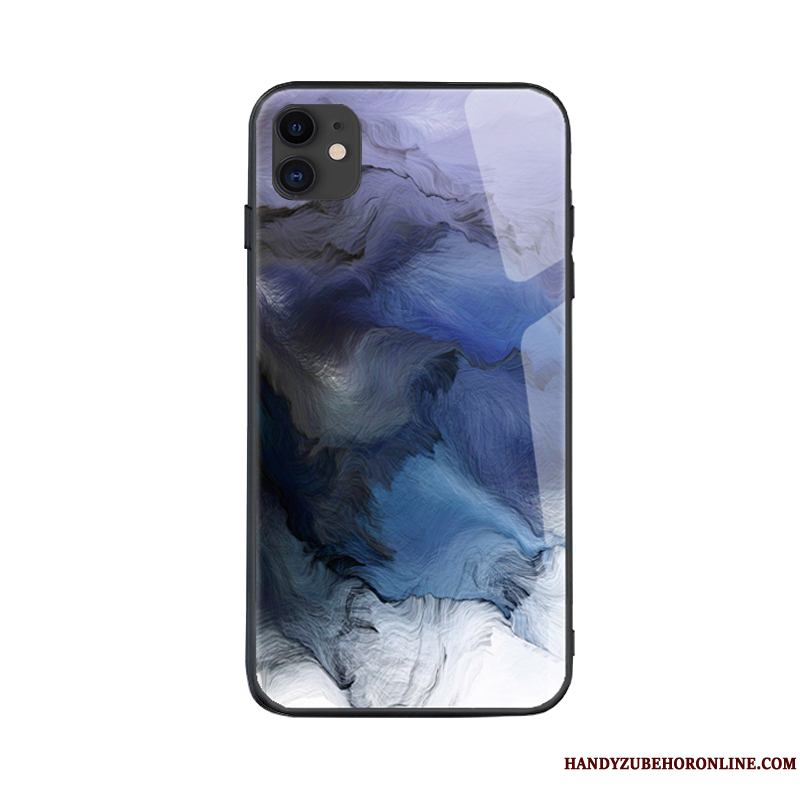 iPhone 11 Funda Claro Net Red Azul Simple Carcasa Viento Creativo