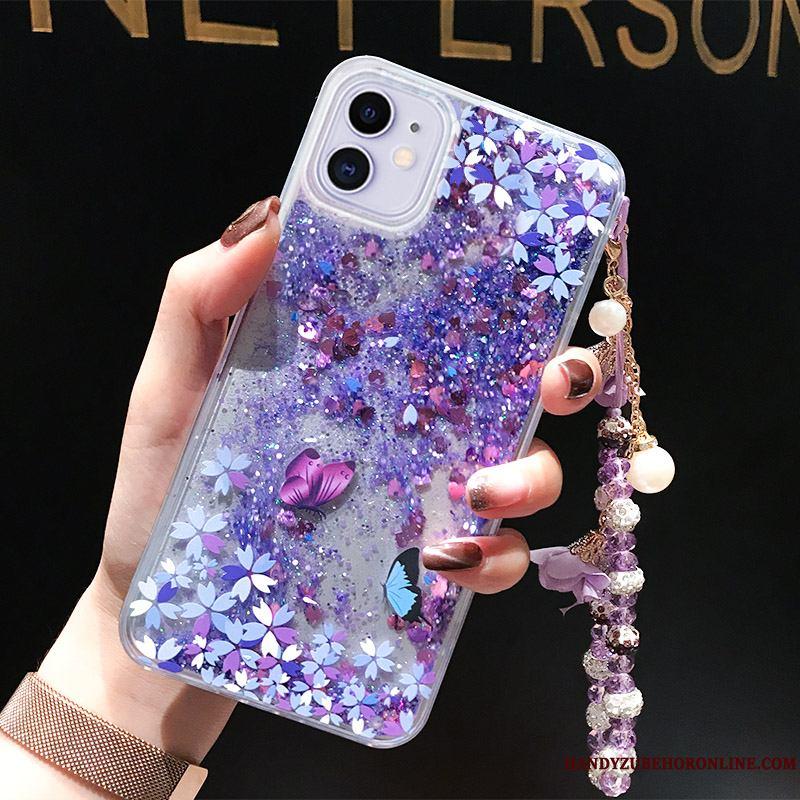 iPhone 11 Funda Tendencia Líquido Todo Incluido Púrpura Polvo Anti-caída Suave