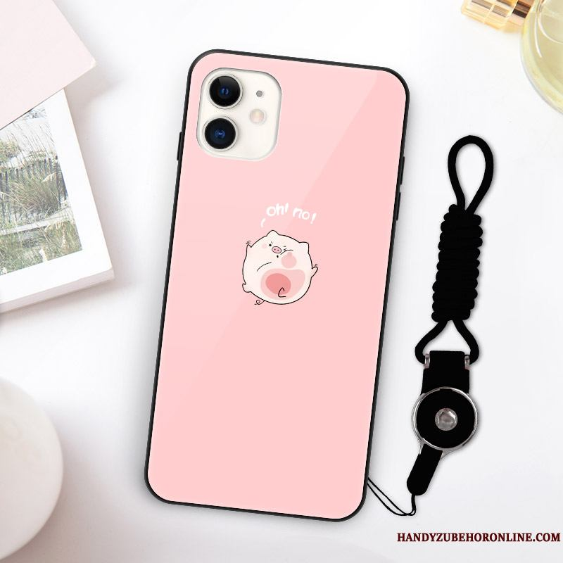 iPhone 11 Rojo Suave Net Rosa Funda Silicona Tendencia