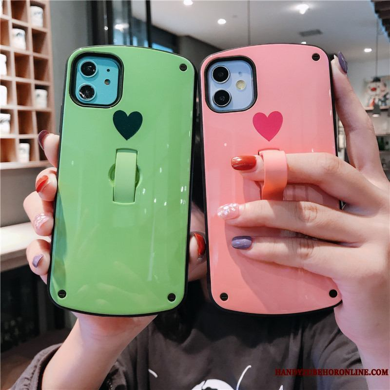 iPhone 11 Simple Funda Silicona Net Red Amor Anti-caída Duro Protección