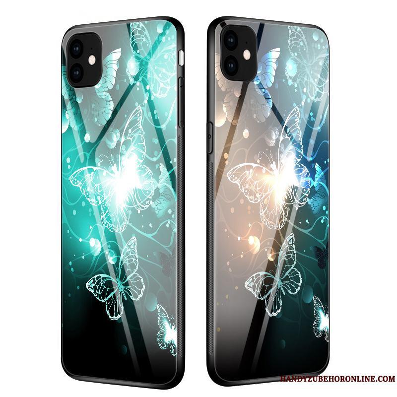 iPhone 11 Vidrio Brillantes Carcasa Verde Protección Funda Silicona
