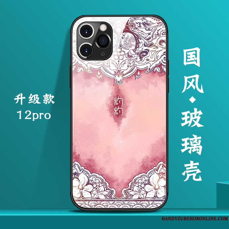 iPhone 12 Pro Creativo Marca Tendencia Rosa Funda Silicona Estilo Chino Net Red Personalizada