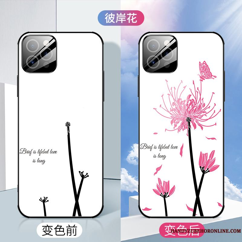 iPhone 12 Pro Net Red Creativo Funda Silicona Anti-caída Nuevo Flores Slim