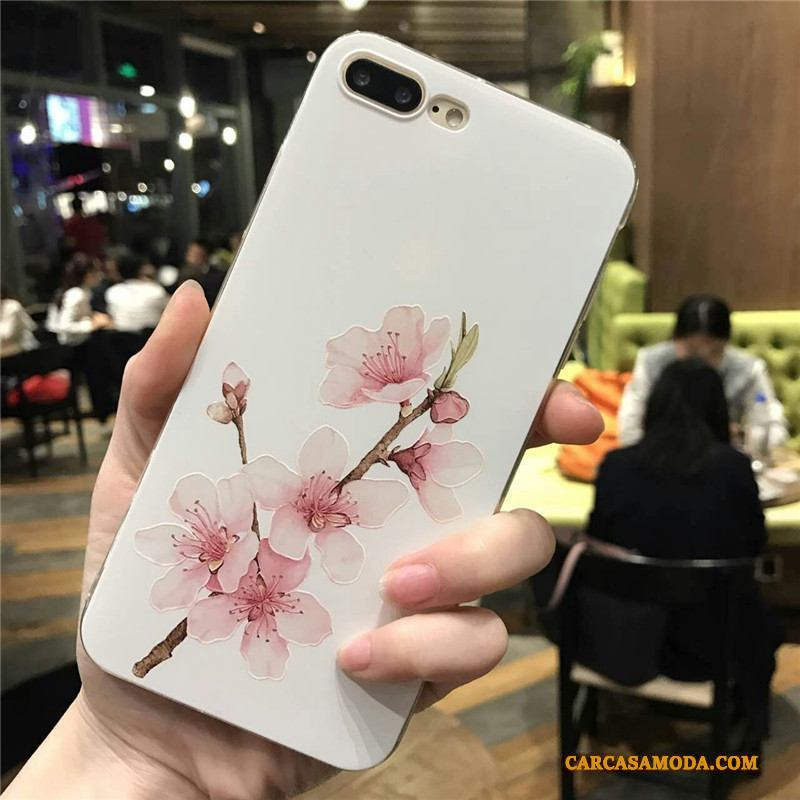 iPhone 6/6s Plus Anti-caída Silicona Blanco Carcasa Funda Silicona Tendencia Retro