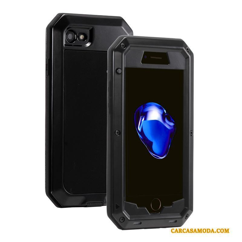 iPhone 6/6s Plus Funda Protección Camuflaje Tres Defensas Carcasa Silicona Todo Incluido Gris