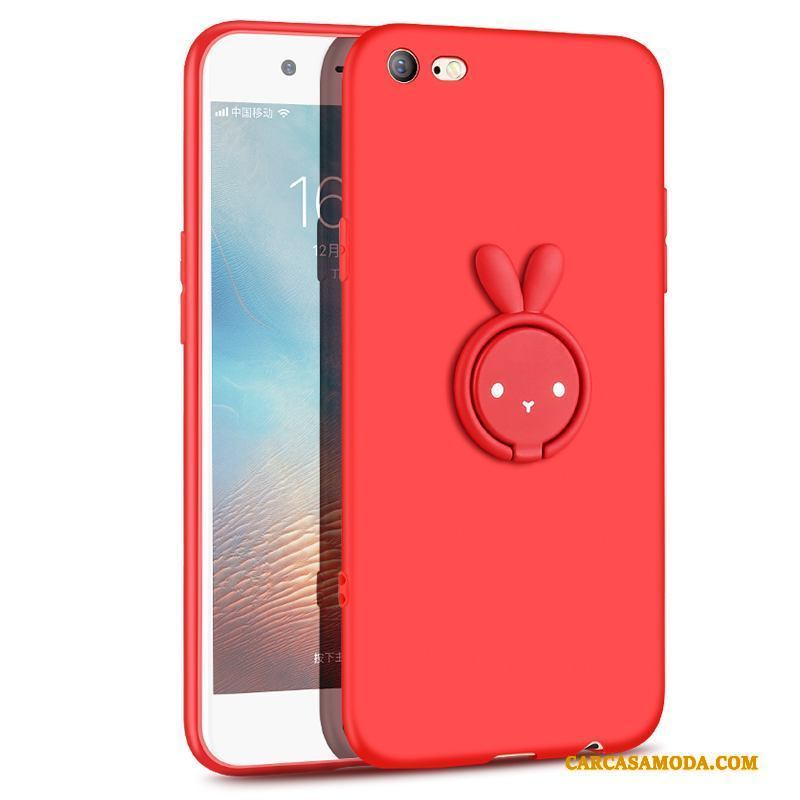 iPhone 6/6s Plus Slim Creativo Anti-caída Rojo Suave Personalizada Funda Silicona