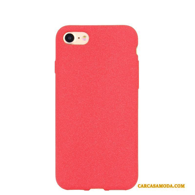iPhone 6/6s Rojo Simple Color Sólido Funda Silicona Anti-caída Suave Pareja