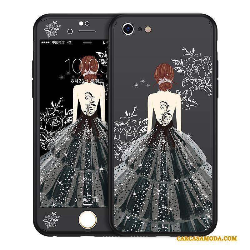 iPhone 6/6s Todo Incluido Funda Silicona Personalidad Negro Rojo Tendencia