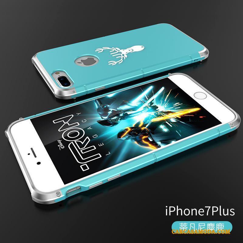 iPhone 7 Plus Funda Personalidad Anti-caída Protección Slim Carcasa Metal Adornos Colgantes