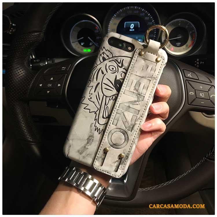 iPhone 7 Plus Funda Silicona Carcasa Personalizada Gris Delgado Protección