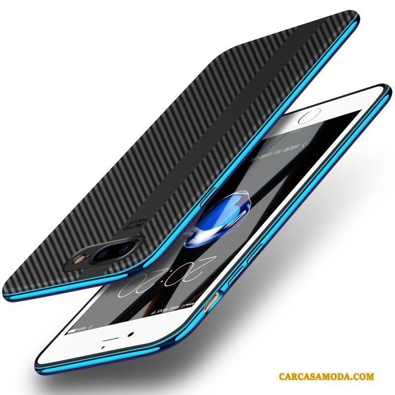 iPhone 7 Plus Marca Tendencia Anti-caída Silicona Creativo Carcasa Funda Azul