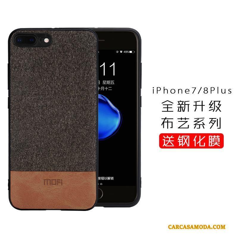 5f859a1f9f1 Iphone 8 Plus Anti-caída Funda Silicona Todo Incluido Paño Marca Tendencia  Carcasa Gris Barata