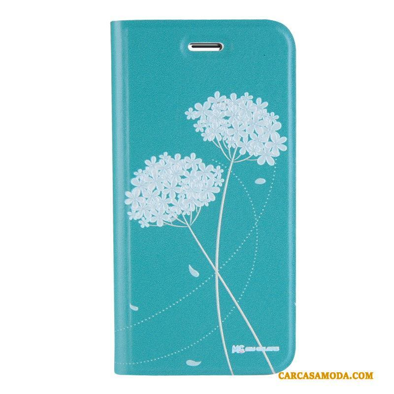 iPhone 8 Plus Funda De Cuero Relieve Dibujos Animados Silicona Anti-caída Folio Tridimensional