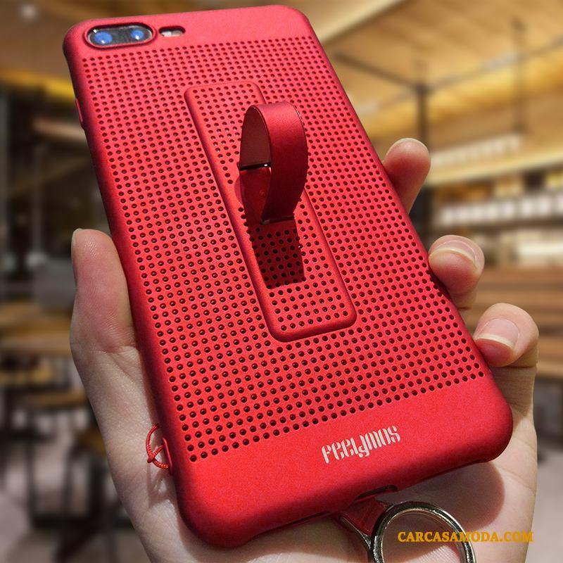 iPhone 8 Plus Funda Silicona Creativo Enfriamiento Carcasa Adornos Colgantes Rojo Pu