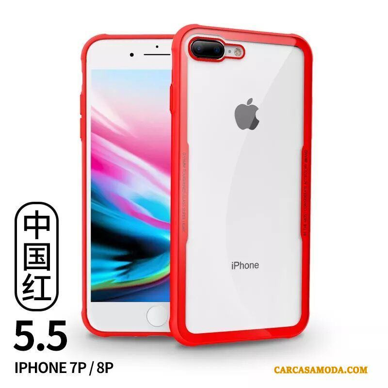 Funda Iphone 8 Plus Suave Transparente Anillo Carcasa Iphone 8