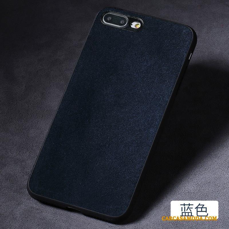 iPhone 8 Plus Todo Incluido Azul Creativo Personalizada Funda Silicona Anti-caída De Piel Ante