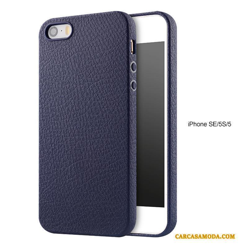 1ddebea242d Iphone Se Protección Funda Silicona Transparente Suave Azul Tendencia  Anti-caída Comprar
